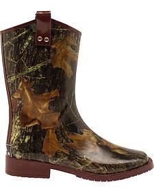 Double Barrel Boys' Trenton Rain Boots - Square Toe