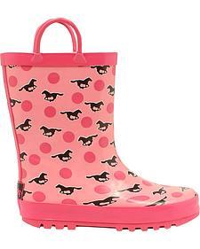 Blazin Roxx Jaylee Horse Rain Boots - Round Toe
