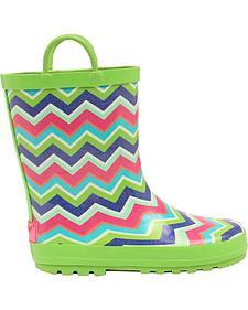 Blazin Roxx Girl's Charlsie Chevron Rain Boots - Round Toe