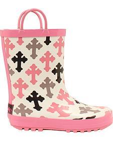 Blazin Roxx Christian Cross Rain Boots - Round Toe