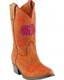 Gameday Boots Girls' University of Mississippi Western Boots - Medium Toe