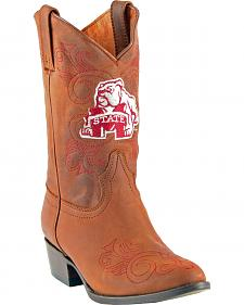 Gameday Boots Girls' Mississippi State University Western Boots - Medium Toe