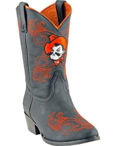 Gameday Boots Girls' Oklahoma State University Western Boots - Medium Toe