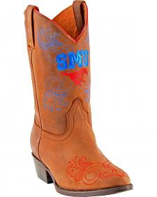 Gameday Boots Girls' Southern Methodist University Western Boots - Medium Toe