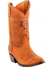 Gameday Boots Girls' Texas A&M University Western Boots - Medium Toe