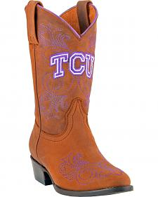Gameday Boots Girls' Texas Christian University Western Boots - Medium Toe