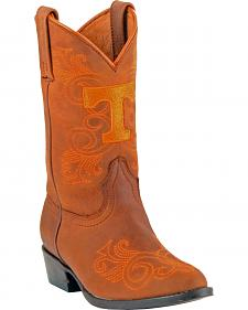 Gameday Boots Girls' University of Tennessee Western Boots - Medium Toe