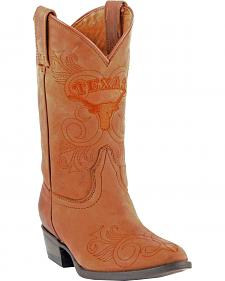 Gameday Boots Girls' University of Texas Western Boots - Medium Toe