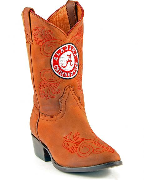 Gameday Boots Girls' University of Alabama Western Boots - Medium Toe