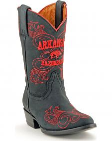 Gameday Boots Girls' University of Arkansas Western Boots - Medium Toe
