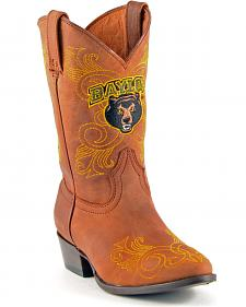 Gameday Boots Girls' Baylor University Western Boots - Medium Toe