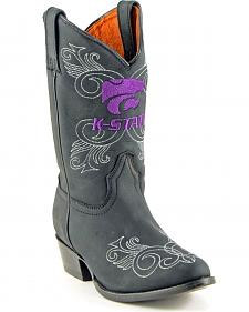 Gameday Boots Girls' Kansas State University Western Boots - Medium Toe