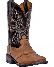 Dan Post Boys' Franklin Cowboy Boots - Square Toe