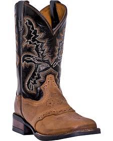 Dan Post Youth Boys' Franklin Cowboy Boots - Square Toe