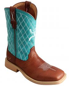 Twisted X Kid's Hooey Cowboy Boots - Square Toe