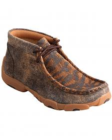 Twisted X Kid's Distressed Tiger Driving Mocs