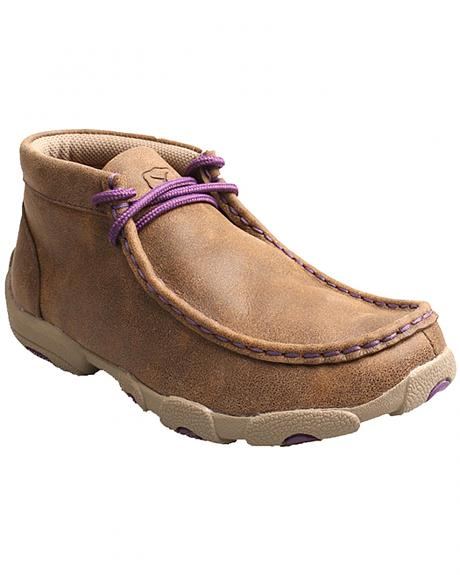 Twisted X Kid's Brown and Purple Driving Mocs