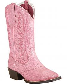 Ariat Youth Girls' Pastel Pink Outrider Cowgirl Boots - Square Toe