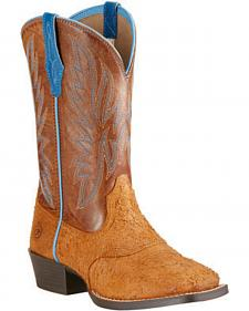 Ariat Youth Boys' Outrider Cowboy Boots - Square Toe