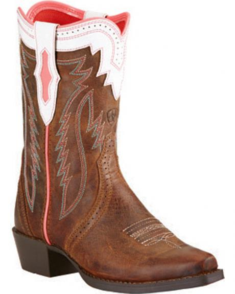 Ariat Girls' Calamity Rodeo Cowgirl Boots - Snip Toe