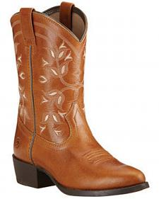 Ariat Youth Boys' Desert Holly Cowboy Boots - Round Toe