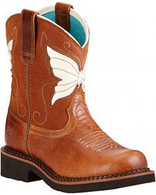 Ariat Youth Girls' Fatbaby Wings Cowgirl Boots - Round Toe
