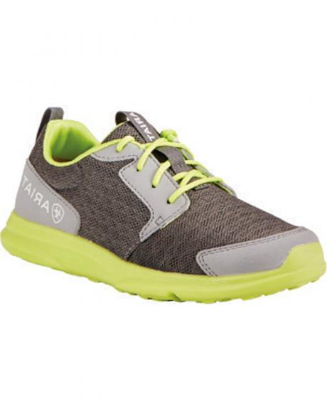Ariat Youth Boys' Fuse Grey Green Mesh Shoes