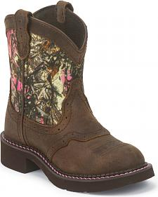 Justin Junior Gypsy Kid's Camo Boots - Round Toe