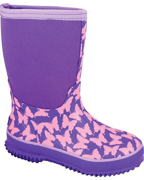 Smoky Mountain Toddler Girls' Butterfly Waterproof Boots