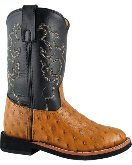 Smoky Mountain Toddler Boys' Shawnee Ostrich Print Western Boots - Round Toe