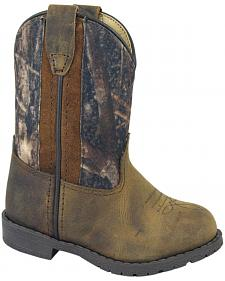 Smoky Mountain Toddler Boys' Hopalong Camo Western Boots - Round Toe
