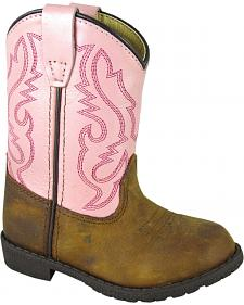 Smoky Mountain Toddler Girls' Hopalong Western Boots - Round Toe