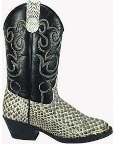 Smoky Mountain Toddler Boys' Laramie Python Print Western Boots - Square Toe