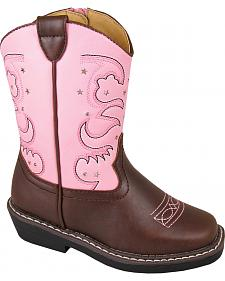 Smoky Mountain Toddler Girls' Austin Lights Western Boots - Round Toe