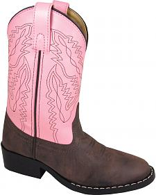 Smoky Mountain Toddler Girls' Monterey Western Boots - Round Toe
