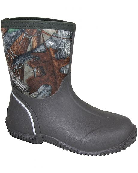 Smoky Mountain Toddler Boys' Amphibian Camo Waterproof Boots