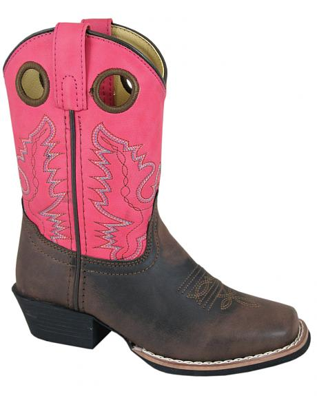 Smoky Mountain Girls' Memphis Western Boots - Square Toe
