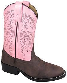 Smoky Mountain Girls' Monterey Western Boots - Round Toe