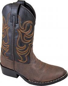Smoky Mountain Boys' Monterey Western Boots - Round Toe