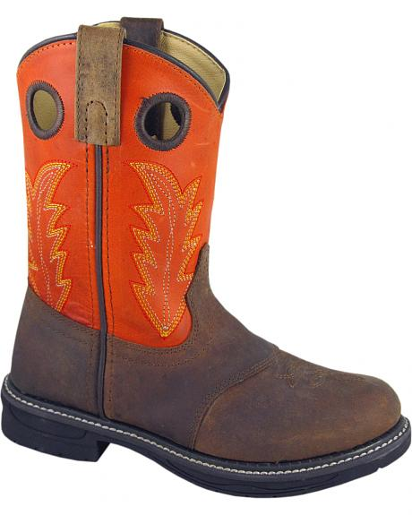 Smoky Mountain Boys' Buffalo Wellington Western Boots - Round Toe
