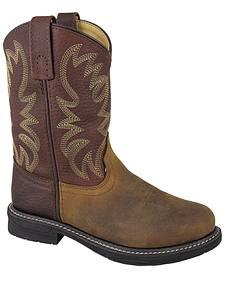 Smoky Mountain Boys' Buffalo Wellington Western Boots - Round Toe
