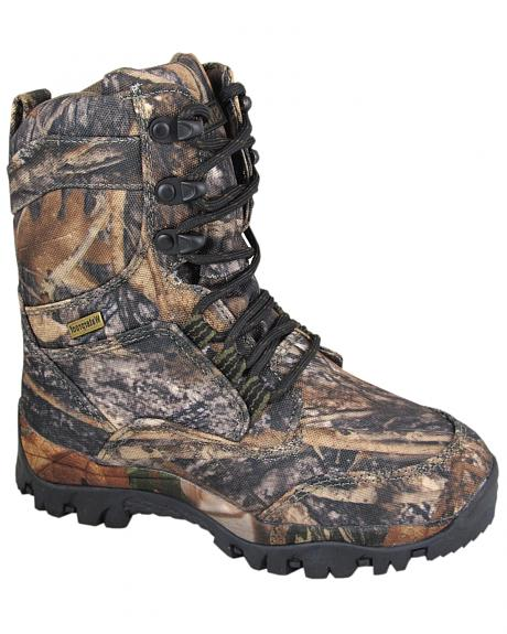 Smoky Mountain Boys' Hunter Camo Lace-Up Boots