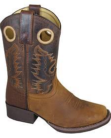Smoky Mountain Boys' Marshall Western Boots - Square Toe
