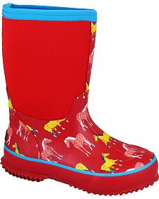 Smoky Mountain Girls' Horsin' Around Waterproof Boots