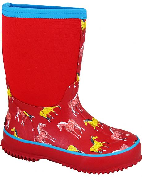 Smoky Mountain Girls' Horsin' Around Waterproof Boots