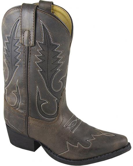 Smoky Mountain Boys' Lasso Western Boots - Snip Toe