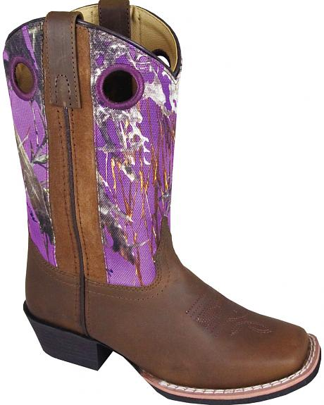 Smoky Mountain Girls' Mesa Camo Western Boots - Square Toe