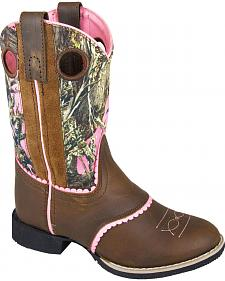 Smoky Mountain Girls' Ruby Belle Camo Western Boots - Round Toe