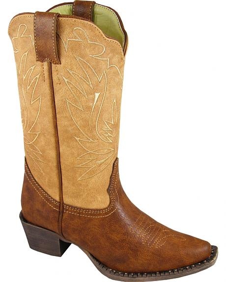 Smoky Mountain Youth Girls' Madelyn Western Boots - Snip Toe