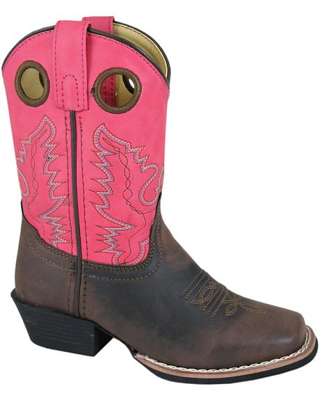 Smoky Mountain Youth Girls' Memphis Western Boots - Square Toe
